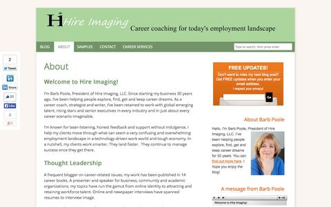 Screenshot of Testimonials Page hireimaging.com - About | Resumes and career marketing - captured Oct. 22, 2014
