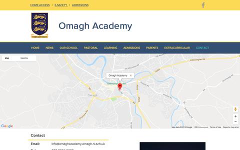 Screenshot of Contact Page omaghacademy.com - Contact Us - captured June 29, 2018