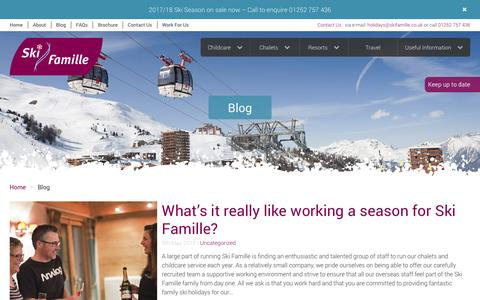 Screenshot of Blog skifamille.co.uk - Ski Famille News, Information and Blogs - captured May 28, 2017