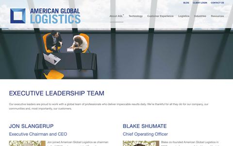 Screenshot of Team Page americangloballogistics.com - American Global Logistics | AGL - Executive Team - captured Nov. 16, 2018