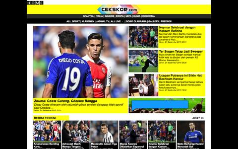Screenshot of Home Page cekskor.com - Cekskor, Jadwal, Hasil dan Berita Olahraga Secara Live - captured Sept. 21, 2015