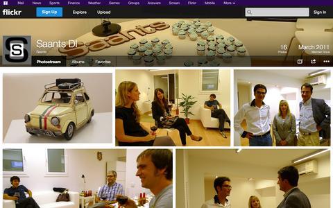 Screenshot of Flickr Page flickr.com - Flickr: Saants' Photostream - captured Oct. 23, 2014