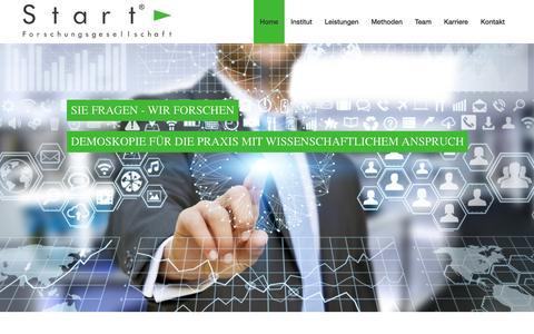Screenshot of Home Page start-institut.de - Home - Meinungsforschung - Politikforschung - Verhaltensforschung - Wirtschaftsforschung |  Start-Institut - captured April 1, 2017