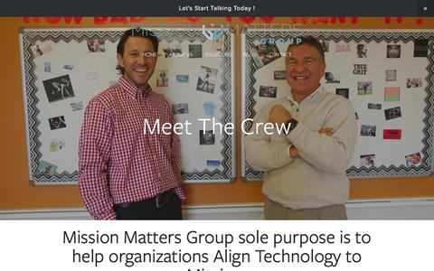 Screenshot of Team Page missionmattersgroup.com - Our Team Ń Mission Matters Group - captured Jan. 10, 2016
