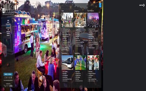 Screenshot of Services Page accessdmc.com - Destination Management Services, Corporate Event Servcies - captured Dec. 12, 2015