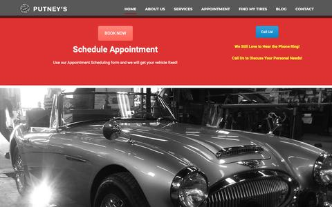 Screenshot of Home Page putneys.ca - Putney's Brake and Alignment Service & Automotive Repair Hamilton - captured Sept. 29, 2018