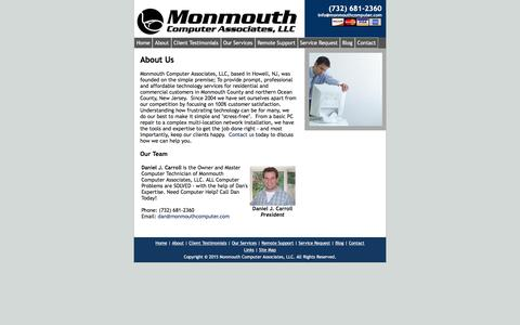 Screenshot of About Page monmouthcomputer.com - About Us | Monmouth Computer Associates, LLC - captured Aug. 13, 2016