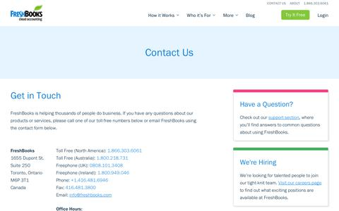 How To Contact Us | FreshBooks