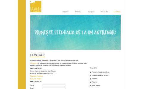 Screenshot of Contact Page revistadepovestiri.ro - Contact Revista de Povestiri | Revista de Povestiri - captured Dec. 17, 2016