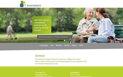 Screenshot of Contact Page it-innovators.nl - Contact - IT-innovators - captured Oct. 1, 2018