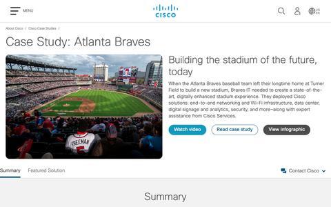 Screenshot of Case Studies Page cisco.com - Cisco Case Study: Atlanta Braves - Cisco - captured May 10, 2019