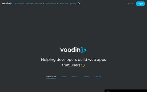Screenshot of About Page Contact Page vaadin.com - Company   Vaadin - captured Feb. 1, 2019