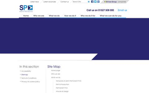 Screenshot of Site Map Page spgroup.co.uk - Sitemap - captured Oct. 3, 2014