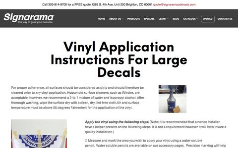 Vinyl Application Instructions for Large Decals | Signarama Colorado