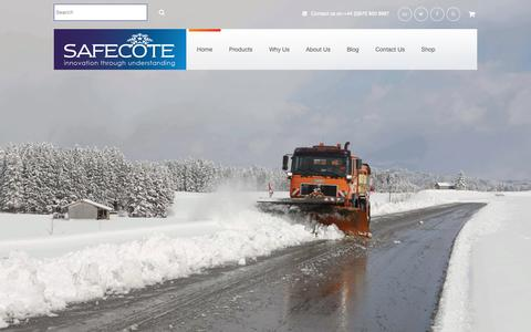 Screenshot of Home Page safecote.com - Safecote - captured Oct. 1, 2018