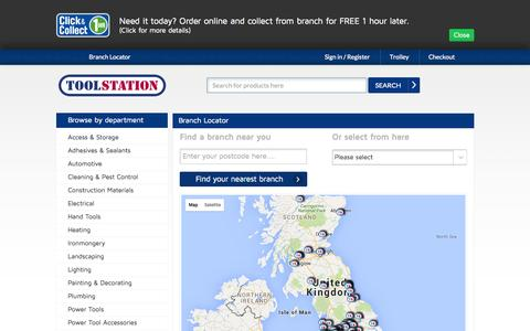 Screenshot of Maps & Directions Page toolstation.com - Toolstation - captured Oct. 2, 2015