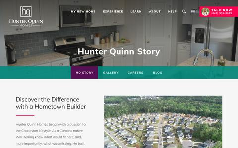 Screenshot of About Page hunterquinnhomes.com - The Hunter Quinn Homes Experience | Hunter Quinn Homes - captured June 14, 2019