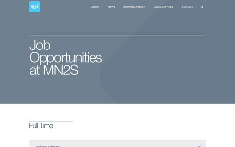 Screenshot of Jobs Page mn2s.com - Jobs | MN2S | enquire about job opportunities or internships - captured Sept. 24, 2014