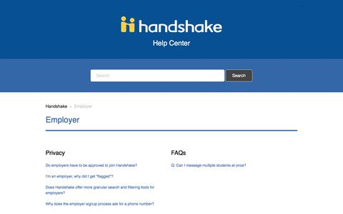 Employer – Handshake