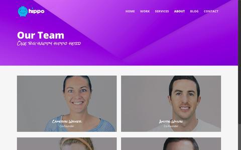 Screenshot of Team Page studiohippo.com - Our Team - Studio Hippo - captured Nov. 11, 2017