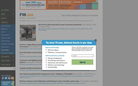 Screenshot of Case Studies Page fmlink.com - Case Studies Archives - FMLink - captured Oct. 10, 2018