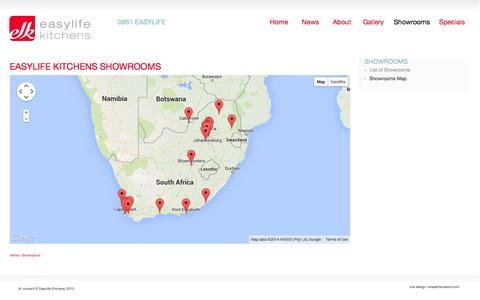 Screenshot of Maps & Directions Page easylifekitchens.co.za - Easylife Kitchens | Easylife Kitchens Showrooms | - captured Oct. 22, 2014