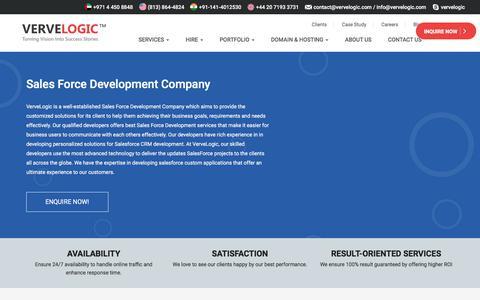 Screenshot of vervelogic.com - Best Sales Force Development Company in India - VerveLogic - captured Jan. 1, 2018