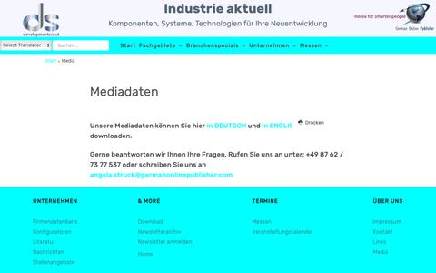 Screenshot of Press Page developmentscout.com - Media - captured Sept. 29, 2018