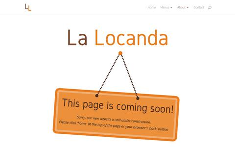 Screenshot of About Page Team Page lalocanda.co.uk - Coming Soon! - La Locanda - captured July 10, 2017