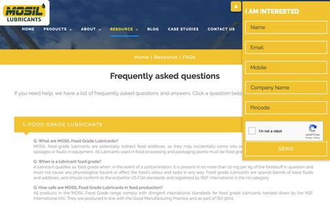 Screenshot of FAQ Page mosil.in - FAQs - captured Oct. 18, 2018