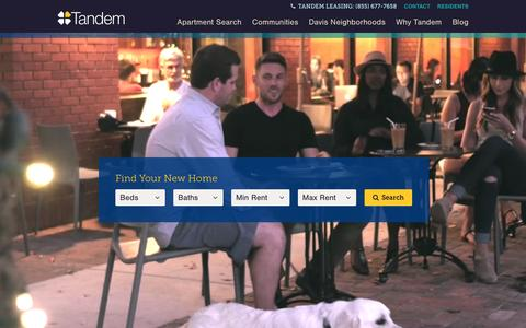 Screenshot of Home Page tandemproperties.com - Home - Davis Apartments - Tandem Properties - captured Feb. 13, 2016