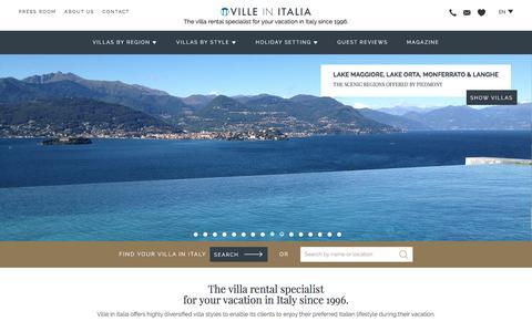 Screenshot of Home Page villeinitalia.com - Villas in Italy: Vacation Rental Homes - Ville in Italia - captured May 10, 2017