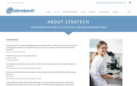 Screenshot of Testimonials Page stratechscientific.com.au - Testimonials - Stratech Scientific - captured Oct. 18, 2018