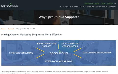 Screenshot of Support Page sproutloud.com - Why SproutLoud Support? - SproutLoudSproutLoud - captured Nov. 16, 2016