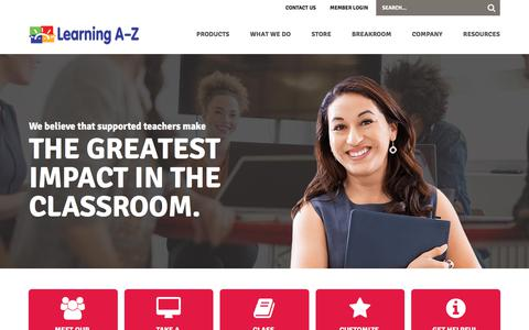 Professional Development For Teachers - Webinars and Workshops - Learning A-Z