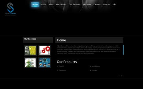 Screenshot of Home Page abusal.com - Adjust Systems Information Technology - captured Oct. 4, 2014