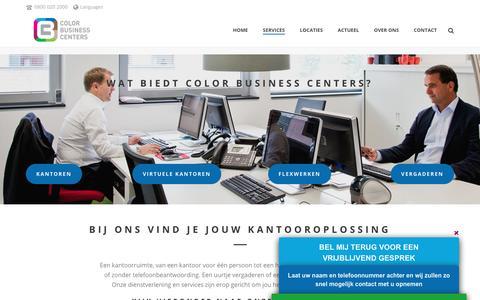 Screenshot of Services Page colorbc.nl - De Services van Color Business Centers - captured Aug. 13, 2017