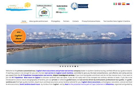 Screenshot of Home Page guide-sardinia.com - Taxi service, private customised tours and shore excursions from Cagliari, Sardinia | - captured Sept. 30, 2018