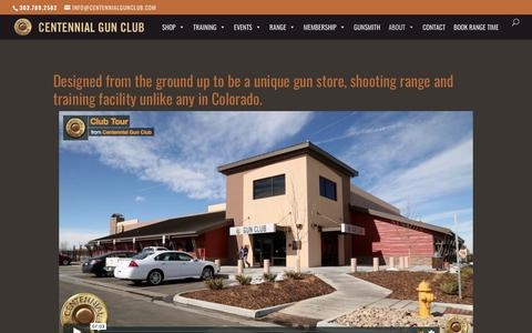 Screenshot of About Page centennialgunclub.com - About | Centennial Gun Club - captured July 16, 2018