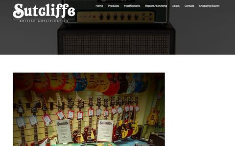 Screenshot of Press Page sutamps.com - Sutcliffe Amplification | News - captured Feb. 18, 2016