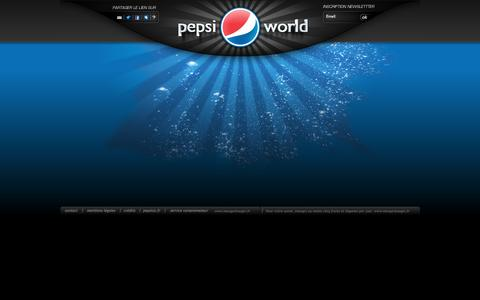 Screenshot of Home Page pepsi.fr - pepsi world - captured March 8, 2016