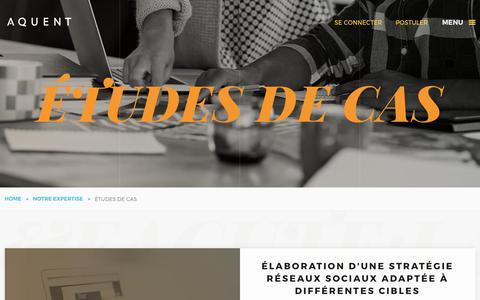 Screenshot of Case Studies Page aquent.fr - Case Studies | Aquent - captured Dec. 4, 2016