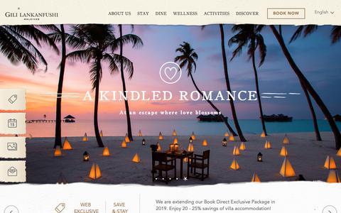 Screenshot of Home Page gili-lankanfushi.com - Gili Lankanfushi Maldives | Maldives' Best Luxury Resort - captured Nov. 9, 2018