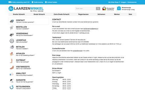 Screenshot of Privacy Page Contact Page laarzenwinkel.com - Veelgestelde Vragen | Laarzenwinkel.com - captured March 4, 2016