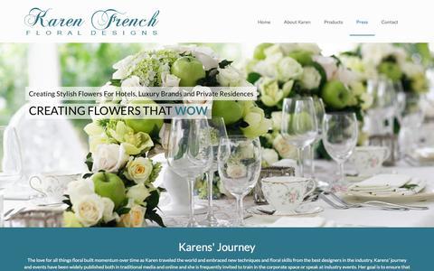 Screenshot of Press Page karenfrenchfloraldesigns.com - Flowers Singapore - Karen French Floral Designs - Press - captured Aug. 8, 2016