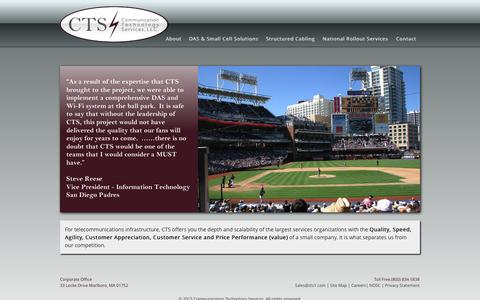 Screenshot of Home Page cts1.com - Communication Technology Services | Just another WordPress site - captured Oct. 8, 2014