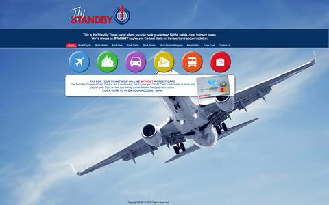 Screenshot of Home Page flystandby.co.za - Booking Portal - captured Oct. 1, 2014