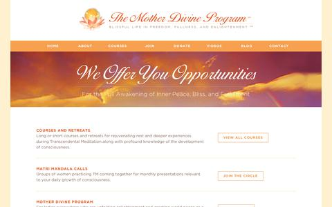 Screenshot of Signup Page motherdivine.org - Join | The Mother Divine Program - captured Oct. 2, 2018