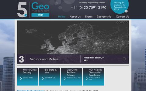 Screenshot of Home Page geobig5.com - The Big 5 :: Home - captured June 21, 2015