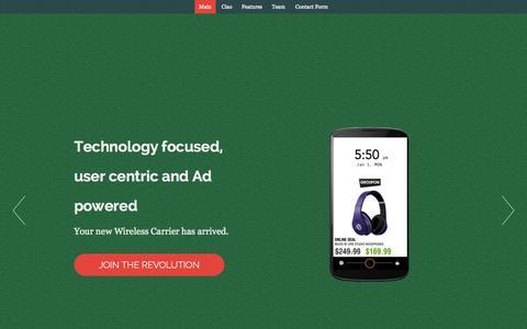 Screenshot of Home Page joinciao.com - Ciao Telecom - captured Jan. 26, 2015